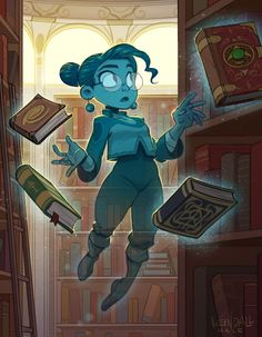 Spectral Librarian by Kendall Hale_Imaginary Scholars Fantasy Character Design, Character Drawing, Character Design Inspiration, Character Concept, Concept Art, Animation Character, Character Sketches, Pretty Art, Cute Art
