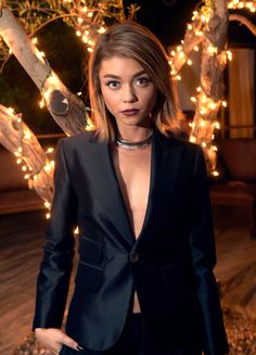 Sarah Hyland arrives at Cosmopolitan Magazine's 50th Birthday Celebration at Ysabel on October 12, 2015 in West Hollywood, California.