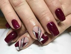 Elegant Nails, Classy Nails, Stylish Nails, Simple Nails, Geometric Nail, Trendy Nail Art, Great Nails, Nagel Gel, Square Nails