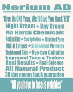 Nerium is the best product out there! www.stisher.nerium.com