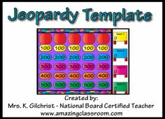Library Jeopardy Questions | Jeopardy Template Promethean ActivInspire ActivBoard Flipchart File ...