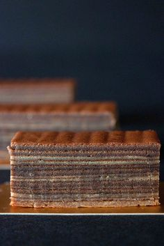 Mocha Kuih Lapis - a mocha flavoured layered cake made by meticulously grilling layer upon layers of batter #recipe