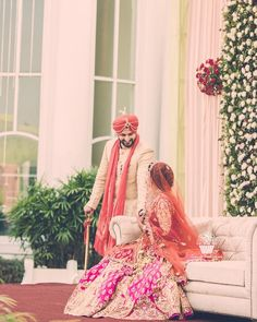 "wedmegood: ""Trending on WedMeGood app : gorgeous photo of Amreen and Jai shot by @cupcakeproductions13 | #sikhbride #pinkbride #pinklehenga #veil #morninngwedding #candidwedding #candid #weddingphotography #couple #fuschia #indianbride #instapic #instabride #instawedding #instadaily"""