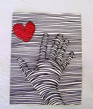 valentine art project - op art