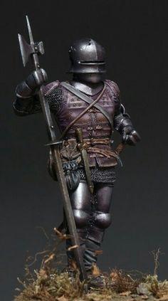 Gothic brigantine clad knight miniature