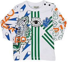 b9ff4265695 Kenzo Infants  Tiger-  amp  Logo-Graphic Cotton Long-Sleeve T-