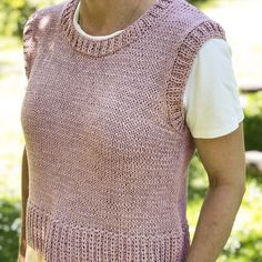 Knitting Stiches, Knitting Patterns, Crochet Yarn, Knit Crochet, Summer Knitting, Crochet Woman, Knit Vest, Diy Clothes, Knitwear