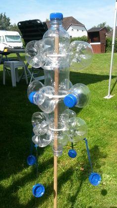 Windspiel aus plastikflaschen wind chimes made of - Tiestos de plastico baratos ...