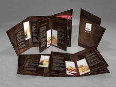 2 fold with die-cut menu by ~pampilo +Restaurant Brochure Template :- It is a 2 fold brochure template with die-cut layout design created for table menu offering starters, main course, pasta and coffee.