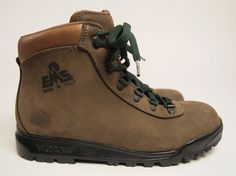 1990s EMS Vintage Women's Leather Waterproof Backpacking Boots US 7.5 B #EMS #HikingTrail