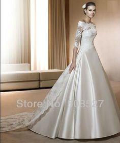 Купить товарВысокое качество на заказ слоновая кость / из белого атласа кружево аппликация платье линии свадебное платье свадебное платье в категории Свадебные платьяна AliExpress.                                                                                                        Добро пожаловать