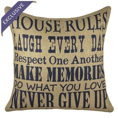 House Rules Pillow