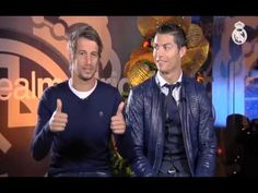 Real Madrid  Cristiano and Coentrao wish you a Merry Christmas