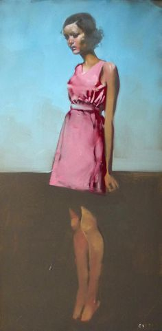 "Michael Carson ""Long"" 36"" x 18"" Michael Carson Oil on canvas"