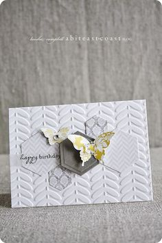 Wednesday, March 20, 2013  SU sale-a-bration...vine street embossing folder, vintage faceted buttons