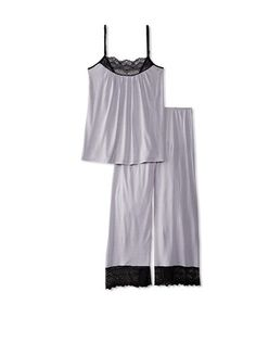 40% OFF Only Hearts Women's Venice Cami & Crop Pant Set with Lace (Dust/Black)