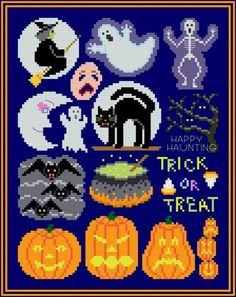 Halloween Collection - cross stitch pattern designed by Susan Saltzgiver. Category: Halloween.