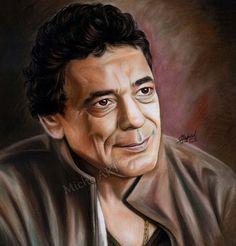 الغنان محمد منير للرسام المصرى ميشيل طلعت