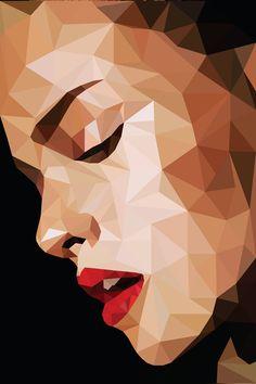 tuval resimleri pop art Polygon Art on Behance Geometric Drawing, Geometric Art, Geometric Animal, Pop Art Portraits, Portrait Art, Graphic Design Illustration, Illustration Art, Illustrations, Polygon Art