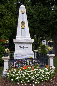 Beethoven's Grave, Vienna, Austria - was so excited when I came across this by accident.