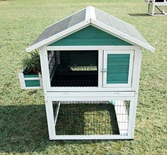 Petsfit 38 X 30.2 X 45.9 Inches Bunny Cages, Rabbit Hutch Outdoor