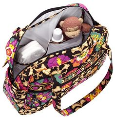 Love that it is machine washable! Sturdy cotton soft structured tote/messenger with reinforced double handles can survive parenthood. Wishes For Baby, Mom And Baby, Vera Bradley, Baby Car Seats, Purses And Bags, My Style, Diaper Bags, Babies, Cotton