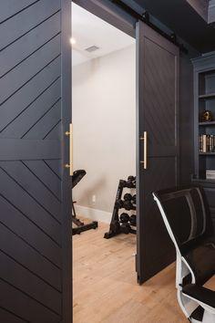 Modern Sliding Doors, Modern Barn Doors, Contemporary Garage Doors, Diy Sliding Door, Modern Closet Doors, Sliding Door Panels, Sliding Pantry Doors, Barn Door Pantry, Sliding Door Design