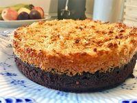 Chokoladekage med kokostopping