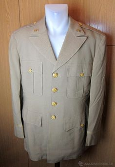 Chaqueta Service Dress tropical oficial US ARMY. Segunda guerra mundial.