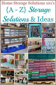 {A - Z} Home Storage Solutions .