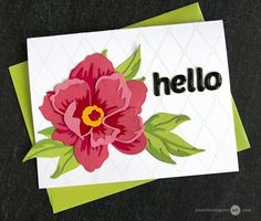 Hello again! I am back today to share tips and techniques for layering die cuts. These cards were such fun to make! Card Making Tutorials, Card Making Techniques, Altenew Cards, Stampin Up Cards, 3d Cards, Folded Cards, Jennifer Mcguire Ink, Poppy Cards, Alphabet