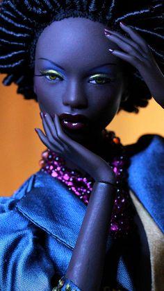 "As the saying goes....""Black is Beautiful. !!! Estilo Barbie, Beautiful Barbie Dolls, Pretty Dolls, Living Dolls, African Dolls, African American Dolls, African Art, Black Barbie, Barbie Collection"