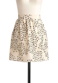 Birds with Friends Skirt, #ModCloth