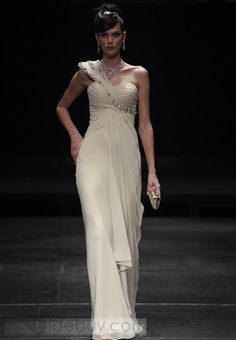 One Shoulder Floor-Length Watteau Train Party/Evening Dresses(Free Shipping) www.tidebuy.com