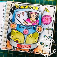 Toet-toet beep-beep veilig op weg met de nieuwe stempels en het mini art journal van art by Marlene.  #Hobbycompleetdeduif #artbyMarlene  #StudioLight Art Journals, Bright Colors, Lunch Box, Bright Colours, Vivid Colors, Art Diary, Bento Box, Vibrant Colors