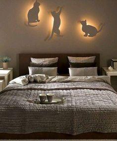 Оригинальное освещение в спальне