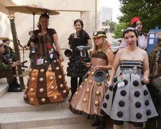 Steampunk Cosplay Daleks