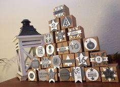 Adventskalender, winterlich im Shabby Look / Mit Produkten aus dem Stampin' Up! Herbst/ Winter Katalog  (24 Türchen / Mini Geschenkschachteln )  http://dini.derschnipselgecko.com/adventskalender-shabby-look/ https://www.facebook.com/derschnipselgecko.de