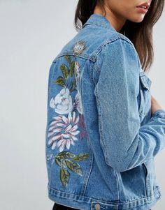 Glamorous Tall Painted Denim Jacket