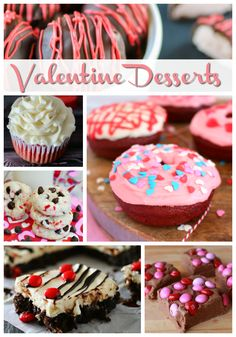 Delicious Desserts for Valentine's Day - Truffles, Donuts, Cookies, Fudge - lots of recipe inspiration
