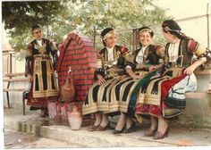 Plisedoto garment Skopelos (Greece) with colorful floral themes. Greek Traditional Dress, Traditional Skirts, Traditional Outfits, Folk Clothing, Greek Clothing, Skopelos Greece, Greek Dress, Greek Men, Sleeveless Coat