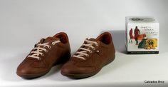 Colección Panama Jack. Zapato sport de piel nobuck con cordón - Castaño. (home).