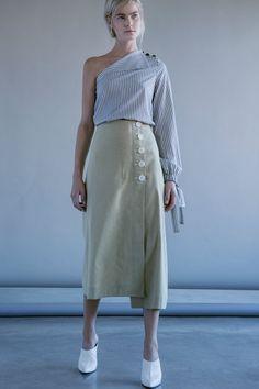 Robert Rodriguez Studio Flare Linen Skirt | #robertrodriguez #skirt #linen #spring #SS18 #womensfashion #fashion #designer