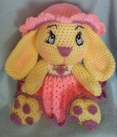 Crochet Miss Girl Bunny Amigurumi Pattern Only por 3ThreadinBettys