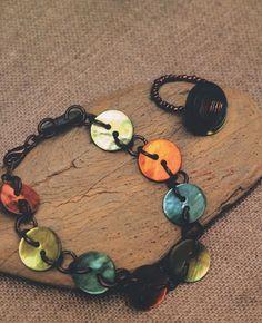 buttons bracelet #handmade