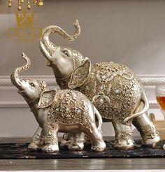 Pair of Magnificient Antique Look Silver Elephant Sculptures Small Elephant, Elephant Art, Silver Pooja Items, Elephant Home Decor, Pooja Room Door Design, Elephant Sculpture, Silver Ornaments, Elephant Design, Animal Sculptures
