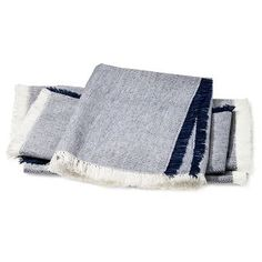 Chambray Napkin with Fringe - Blue (Set of 4) - Threshold™