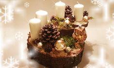Basteltipp – Adventskranz mal anders Advent, Table Decorations, Blog, Diy, Home Decor, Event Calendar, Natural Materials, Craft Tutorials, Crown Cake