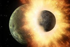 The most comprehensive and widely-held theory of how the Moon formed is called the 'giant impact hypothesis.' That hypothesis shows that about 150 million years after the Solar System formed, a roughly Mars-sized planet named Theia collided with. Nasa, Roca Lunar, Uranus, Les Satellites, History Of Earth, Ancient History, Dwarf Planet, Alien Planet, Between Two Worlds