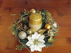 Svietidlá a sviečky - Zlatý svietnik na zlatom tanieri - 2042521